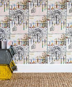 Southampton Fusion luxury wallpaper, coated w x roll. Interior Wallpaper, Luxury Wallpaper, Rachel Reynolds, Southampton, Light Shades, Surface Design, Tent, Photo Wall, Inspiration