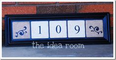 Home address plate or anything you want it to be. Would make a great housewarming gift, etc. Follow the idea room for complete instructions.