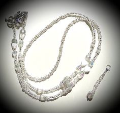 Clear Crystal Drops Lanyard/NecklaceSparkling by AGrandIllusion