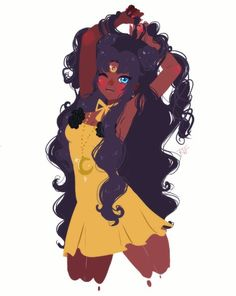 anime girl with dark skin and white hair - - Yahoo Image Search Results Black Girl Art, Black Women Art, Art Girl, Anime Negra, Art Sketches, Art Drawings, Black Anime Characters, Black Art Pictures, Dark Skin Girls