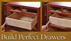Making Drawer Center Guide - Drawer Construction and Techniques   WoodArchivist.com