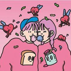 pinterest :: 1995REYNOLDS Of Wallpaper, Pattern Wallpaper, Wave Illustration, Wow Art, Korean Art, Medan, Illustrations And Posters, Vaporwave, Cute Cartoon