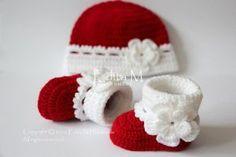 Conjunto de bebé del ganchillo botitas de bebé y sombrero