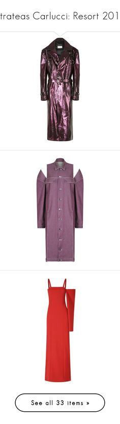 """""""Strateas Carlucci: Resort 2018"""" by livnd ❤ liked on Polyvore featuring StrateasCarlucci, livndfashion, resort2018, livndstrateascarlucci, outerwear, coats, purple, leather trench coat, purple leather coat and oversized coat"""