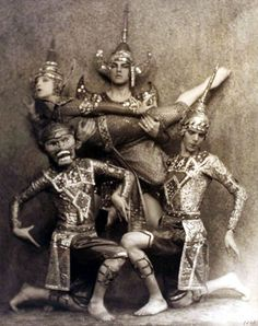 ruth st denis and ted shawn as thai dancer in thai costumes