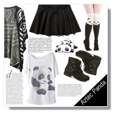 """""""Aztec Panda"""" by artistic-biscuit ❤ liked on Polyvore"""