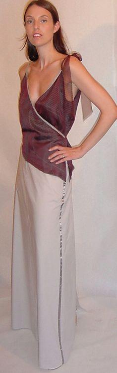 Tuxedo Style Asymmetric MaxiSkirt in Pale by speakeasyboutique, $84.00