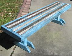 You can find this bench/coffee table at Antiques and Uniques, Palm Harbor Fl.  Price is $148.