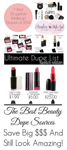 List of beauty dupe sources to save money and still look amazing.
