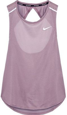 Nike - Breathe Open-back Stretch-mesh Tank - Lilac The back is super pretty. The sheerness keeps it sexy but not in a show off kind of way. Sporty Outfits, Athletic Outfits, Athletic Wear, Athletic Tank Tops, Athletic Clothes, Sport Style, Workout Attire, Workout Wear, Sport Fashion