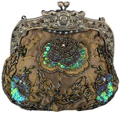 Beaded Vintage Evening Bag with Antique Frame - Olive Taupe Satin by Mariell, http://www.amazon.com/dp/B005BIIH3S/ref=cm_sw_r_pi_dp_pZXKqb1MDQQCG