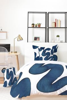 Elena Blanco Blue Swirls Bed In A Bag | DENY Designs Home Accessories