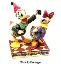 Jim Shore Donald Duck & Daisy Duck Figurine -...