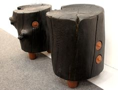 Architectural Digest Home Design Show 2015 Reclaimed Wood Stools - Decoist