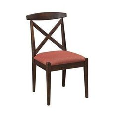 "Conrad Grebel Kingston Side Chair Seat Height: 24"", Finish: Maple - White Linen"