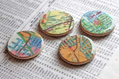 make eveyone a magnet with their street on it! ...customized fridge magnets featuring your neighborhood - great handmade party favor!