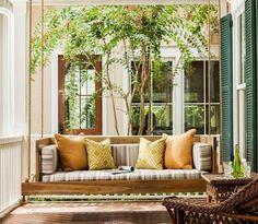 Gartenschaukel Aus Paletten Und Seil Selber Bauen #bauen #gartenschaukel # Paletten #selber