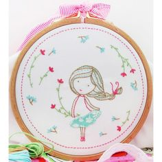 """Spring Girl Embroidery Kit-8""""X8"""""""