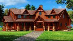 LUXURY CEDAR HOMES | Custom Cedar Log Homes, Luxury Cottage Floor Plans, Architectural ...