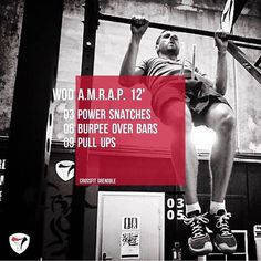 WOD 030517 #CrossFit #Grenoble #CrossFitGrenoble #Wod #Training #Amrap #OriginalAthlete #Become #PowerSnatch #Burpees #PullUps #bestforyou