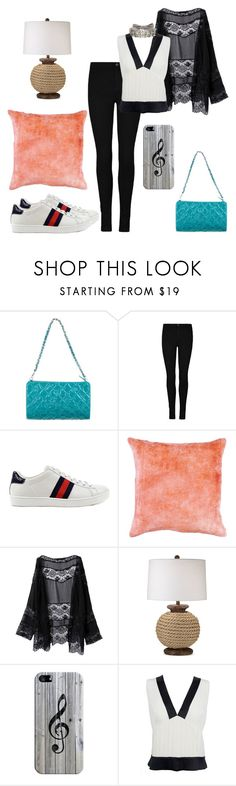 """""""The Tower"""" by black-wings ❤ liked on Polyvore featuring Chanel, Gucci, Pacific Coast, Casetify and Lanvin"""