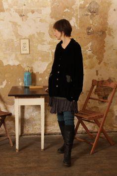non violent silk hand dyed linen silk velvet eco cotton slow fashion artisanal layered look..
