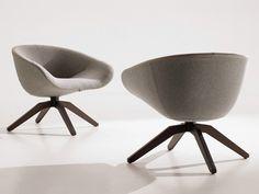 Gepolsterter Sessel aus Stoff auf fixem Fußgestell MART 2012 Kollektion Mart by B