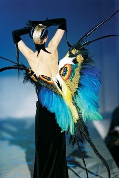 """Thierry Mugler SS 1997 """"les Insectes""""; corset by Mr. Pearl corsets, #waistedfineries"""