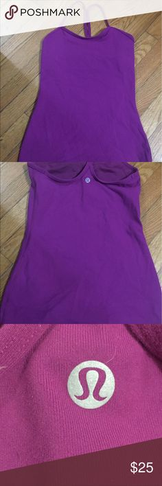 Lululemon Athletica workout tank. Lululemon workout purple\pink tank. No Stains. Non smokers home. Lightly used. Great condition. lululemon athletica Tops Tank Tops