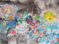 "La vida está ahí, no hay mas que verla: Lia Porto; Acrylic 2014 Painting ""Nesquik de tofu """