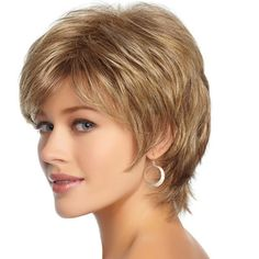 New American And European Women Short Natural Curly Wig Lady Blonde Synthetic Kinky Hairpiece Full Lace Puffy Wigs For White