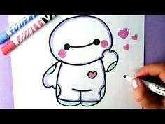 How to Draw CUTE HELLO BAYMAX - BIG HERO 6 - Easy Drawing Tutorial