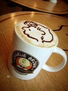 A snoopy cuppa coffee @ Charlie Brown Cafe Strait Quay, Penang