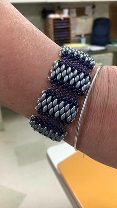 Flache Cellini Armband mit SuperDuos von SoSassySusanSassoon