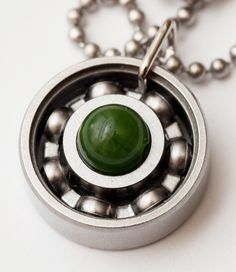 It's still a couple of weeks away, but have you gotten your green for St. Paddy's day? This green jade pendant is PERFECT for your fave drinking holiday. Pick it up today! #derbygirldesigns #jewelrythatrocks #bearingjewelry #rollerderby #stpaddyday #jadegreen