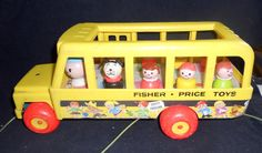Fisher Price Vintage Little People School Bus With 7 by milosteam, $20.00