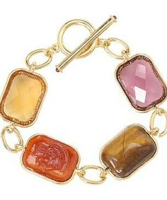 "LAUREN Ralph Lauren 7 1/2"" Multi Bezel Set Stone w/Ring & Toggle Bracelet #accessories  #jewelry  #bracelets  https://www.heeyy.com/suggests/lauren-ralph-lauren-7-12-multi-bezel-set-stone-wring-toggle-bracelet-multi-gold/"