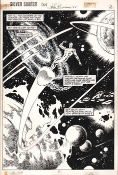 SILVER SURFER: JUDGEMENT DAY PAGE 2 by John Buscema