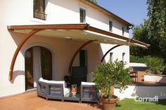 Pérgola de madera (cobertura corredera) - PERGOTENDA® ARKO - Corradi - Outdoor Living Space