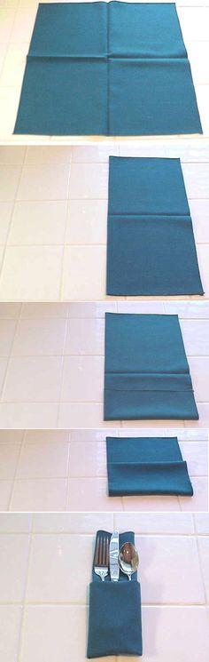 Si quieres que tu mesa luzca elegante, puedes aplicar estás diferentes técnicas para plegar una servilleta de tela