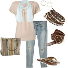 """""""Blues and Browns"""" by heather767 on Polyvore"""
