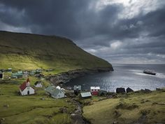 village of Hattervik in the North Atlantic's remote Faroe Islands. by nat geo photographer Jim Richardson