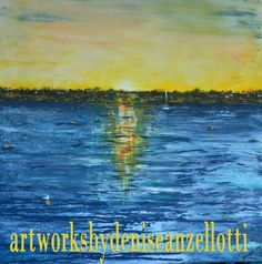 Artworks by Denise Anzellotti: reflections on the water