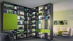 Luxury Bookcase as Room Divider Ikea Room Divider, Bookshelf Room Divider, Living Room Divider, Bookshelves In Living Room, Hanging Room Dividers, Room Divider Curtain, Curtain Room, Bookshelf Inspiration, Library Inspiration