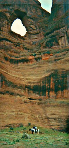 Canyon de Chelly National Monument, Chinle, Arizona. it is cool because I was able to sit in the big hole