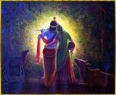 What a beautiful image of Radha-Krishna! Radha Krishna Love Quotes, Lord Krishna Images, Radha Krishna Pictures, Radha Krishna Photo, Krishna Photos, Krishna Art, Baby Krishna, Krishna Leela, Jai Shree Krishna