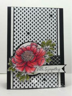 Handmade Sympathy Card, SR244 & CCMC319