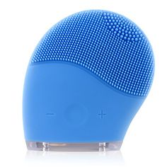 Quimat Face Cleanser and Massager BrushRechargeable Natural Silicone Skin Care Tool  Facial Cleansing and Massager for Polish and ScrubAntiAgingAcidPeelsReduce Acne Blue *** Continue to the product at the image link.