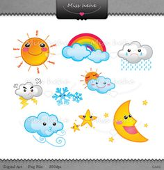 Weather illustrations.