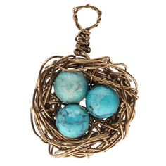 Once you make one of these wired bird's nest charms, you will want to keep making more! Add the charm to a charm bracelet, wear it as a pendant on a necklace, or make a matched set for earrings.